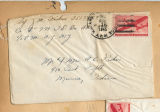 Joseph M. Fisher letter envelope 1945-08-18