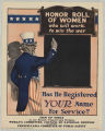 Honor Roll Of Women Who Will Work To Win The War