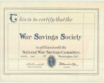 War Savings Society