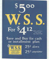 $5.00 W. S. S. For $4.12