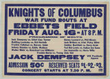 Knights Of Columbus War Fund Bouts At Ebbets Field