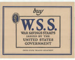 Buy W. S. S. War Savings Stamps