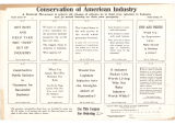Conservation Of American Industry