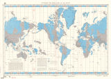 Standard time zone chart of the world, 1992