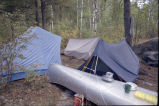 Canoe trip camp site
