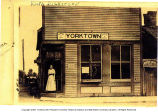 Ruth Dickerson at Yorktown, Indiana Interurban office