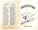 Yorktown High School class of 1959 graduation ceremony program
