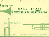 Ball State University School of Music Concert and Event Programs