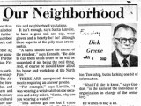 Greene, Richard A. Our Neighborhood Articles