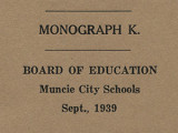 Muncie Board of Education Junior High School Monographs