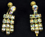 Earrings - Aurora borealis rhinestones