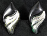 Earrings - Black and silver