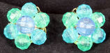Earrings - Blue faceted beads