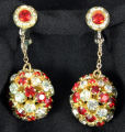 Earrings - Pav  ball drop