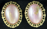 Earrings - Pink art deco