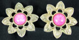 Earrings - Pink flower