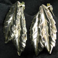 Earrings - Silver feather
