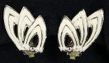 Earrings - Silver with white enamel