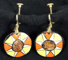 Earrings - Sun design dangle