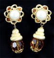Earrings - Topaz crystal dangle