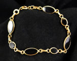 Bracelet - Jet black and gold