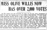 Miss Olive Willis now has over 2,000 votes