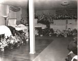 Caskets of the Beal Family in the funeral home