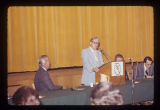 Gov. Otis Bowen speaking at a Criminal Justice seminar, 1976