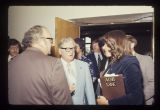 Gov. Otis Bowen at a Criminal Justice seminar, 1976