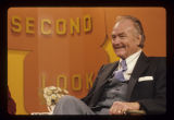 Red Skelton on set of Second Look on WIPB-TV