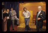 Red Skelton and James Needham on set of Second Look on WIPB-TV