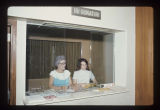 Ball State University employees working at an information desk