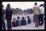 Ball State University Homecoming parade high school band, 1971