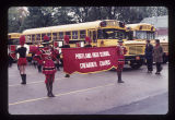 Portland High School Grenadier Guards in Ball State University Homecoming parade, 1971