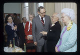 Richard W. Burkhardt, Charles Van Cleve and Mrs. Charles Van Cleve on Van Cleve Day