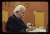 Arthur Fiedler on the set of Second Look on WIPB-TV