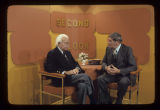 Jim Nickerson interviewing Arthur Fiedler for Second Look on WIPB-TV