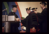 Arthur Fiedler receiving an honorary doctor of laws degree