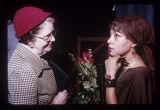 Ruby Dee with Marie Fraser at a poetry reading and speaking engagement