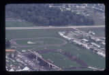 Ball State University Stadium aerial view, 1971
