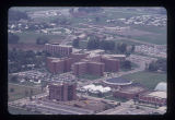 Ball State University aerial view, 1971