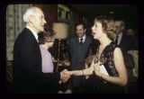 Alexander M. and Rosemary Bracken greeted by guests at Alexander M. Bracken's retirement dinner