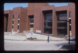 Bracken Library under construction exterior view