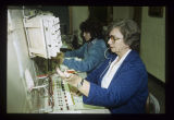 Ball State University telephone operators working the switchboard