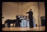 Robert Ruckabrand conducting Ball State Concert Choir at University Hall dedication