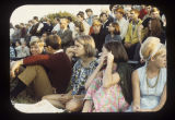 Ball State University students watching Greek games, 1968