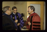 Merrill C. Beyerl, James Koch and James W. Parks at Ball State University summer commencement, 1982