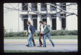Ball State University students crossing McKinley Avenue