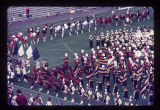 High school bands performing at Ball State University Band Day, 1971