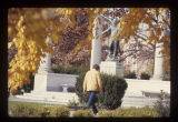 Ball State University student walking pass Beneficence